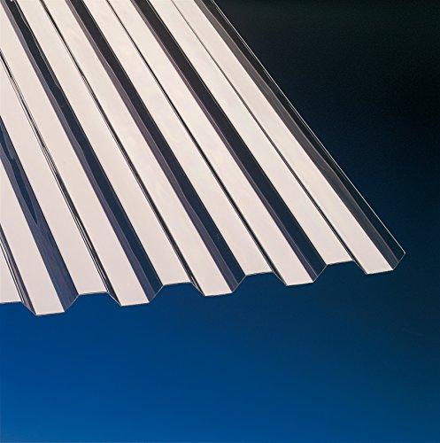 PVC Wellplatten Trapez 70/18 bronce 3000 x 1090 mm Typ 900