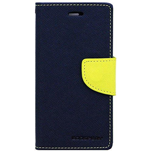 Cubezap Mercury Goospery Fancy Diary Card Wallet Flip Case Back Cover for HTC Desire 620 620G - Green Blue