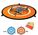 Drone Landing Pad, AooPoo 30'(75cm) Pieghevole impermeabile Drone Atterraggio Pad per DJI Phantom 2/3/4/4 Pro, DJI Inspire1/2, DJI Mavic Pro, 3DR Solo drone, Parrot drones, Antel Robotic X-star, Syma, Hubsan, Holy Stone, UDI drones immagine