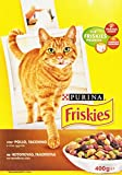 Friskies – Complete food for adult Cats, with added Chicken, Turkey and Olives – 400 g