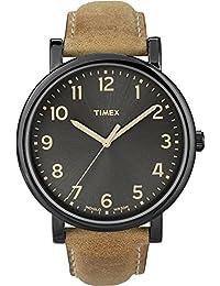 Timex Originals - Reloj análogico de cuarzo con correa de cuero unisex, color marrón/