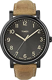Timex Men's T2N677 Quartz Watch with Black Dial Analogue Display and Brown Leather Strap (B0056DC97I) | Amazon Products