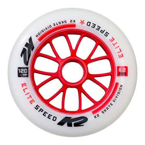 K2 Inline Skates Rolle 120 mm Elite Wheel Each Ersatzrolle - Weiß - 1 Rolle - 30B3013.1.1.1SIZ