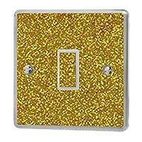 the grafix studio Gold Sequin Sparkle Light Switch Sticker Vinyl/Skin cover
