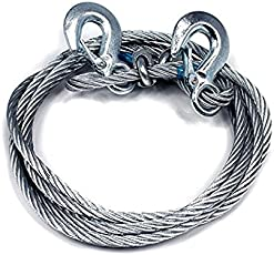 VARSHINE Premium 4M Long || Super Strong Emergency Heavy Duty || Car Tow Cable || 3 Ton Towing Strap Rope || with Dual Forged Hooks || B-02