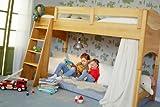 BioKinder 22729 Noah Spar-Set Kinder-Hochbett aus Massivholz Erle 100 cm