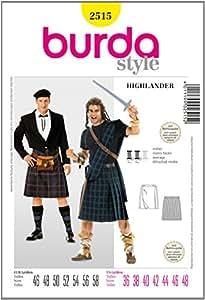 Burda B2515 Patron de Couture Highlander 19 x 13 cm
