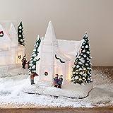 Décoration Chapelle pour Village de Noël Lumineux par Lights4fun