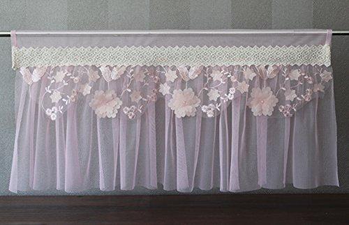Principesse della tenda tendina tenda shabby chic vintage 30x 60, rosa, 60 x 30 cm