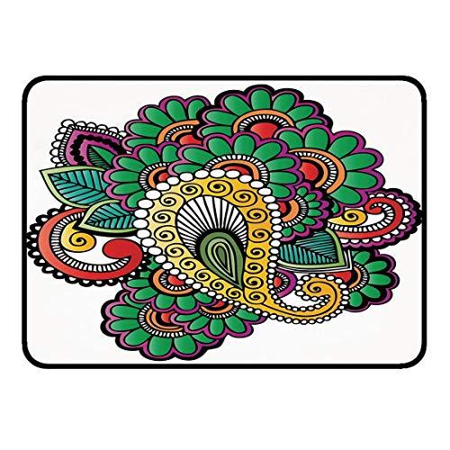 Tappetino antiscivolo per tappetini per stanza ultra morbida 40x60cm alcanna cucina bagno doccia zona vasca tappeto ingresso esterno zerbino vivace composizione floreale colorata in astratto moda fior