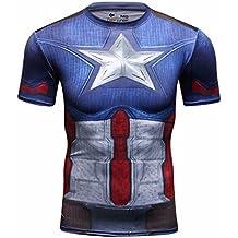 Cody Lundin hombres Compresión camiseta Sportwear 3D superhéroes Logo camiseta Cosplay cómodo gimnasio ejercicio caminatas de manga corta camiseta