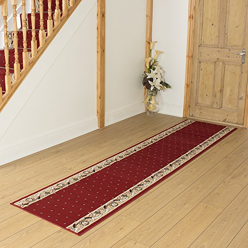 Pin Dot Red - Long Hall & Stair Carpet Runner