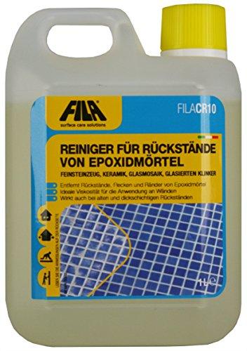 Er Flüssigreiniger (Fila FILACR10 Reiniger für Rückstände von Epoxidmörtel z.B. für Feinsteinzeug, glasierte Keramik, Glasmosaik. 1 l. für bis zu 10 qm)