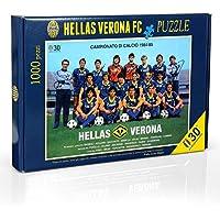 Hellas Verona FC HVR41, Puzzle Squadra Gioventù Unisex, Navy/Giallo, Taglia Unica