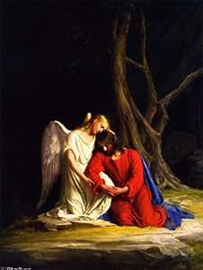 Peinture à l'huile - 24 x 32 inches / 61 x 81 CM - Carl Heinrich Bloch - Christ à Gethsémani