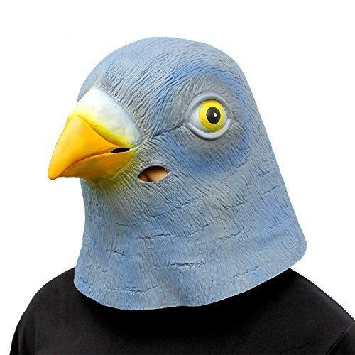 Creepyparty deluxe novità halloween costume festa latex animale testa maschera piccione