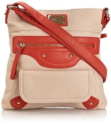 Henley Womens Charlotte Cross-Body Bag Beige/Coral