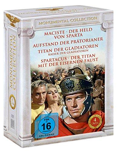 Monumental Collection (4er-Schuber: Titan der Gladiatoren – Aufstand der Prätorianer – Maciste – Spartacus) [4 DVDs]