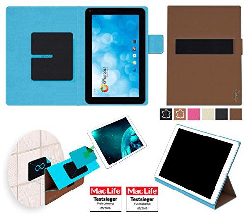 reboon Hülle für Blaupunkt Endeavour 1000 WS Tasche Cover Case Bumper | in Braun | Testsieger