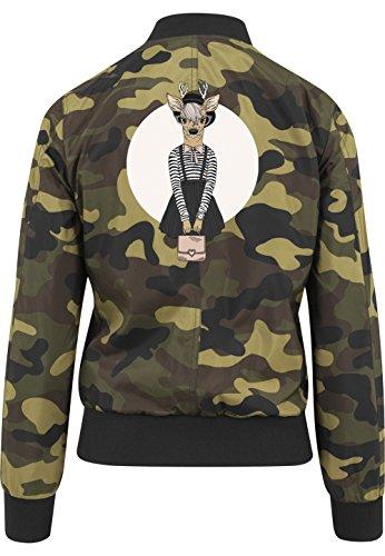 Fashion Deer Bomberjacke Girls Camouflage Certified Freak-M