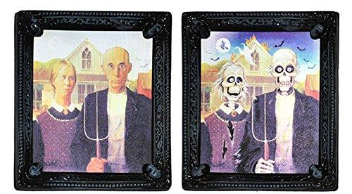 Knut Odegaard - Halloween Dekoration Hologramm Bild Skelett Party 1 Stück, 31x26cm , (Von Bilder Kostüme Paar Halloween)
