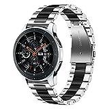 Für Samsung Galaxy Watch 46 mm SM-R800 Uhrarmband, Dmorr 22mm Schnelle Veröffentlichung Edelstahl Uhrenarmband Metall Armbandersatz mit Faltschließe für Ticwatch Pro/S2/E2/1, Gear S3 Classic/Frontier