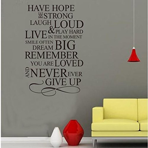 HAVE HOPE - 31 X 23 Wall Sticker Quotes Decor Removable stickers decor Vinyl Art by GeekBuying