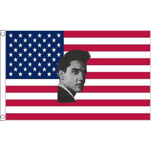 Usa Elvis Presley Flag 5Ft X 3Ft America Usa The King Graceland Banner New by USA Elvis