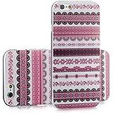 tinxi® Silikon Schutzhülle für Apple iPhone 6 Plus / 6s Plus 5.5 zoll Hülle Silicon Rückschale Cover Case Etui Schutz Indian Stil in pink