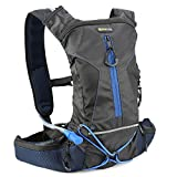 Evecase Hydration Backpack, Sport Daypack Bag Rucksack Pack with 2L Water Hydration Bladder Pocket for Cycling Hiking Climbing Running Travel and Other Outdoor Sports - Black