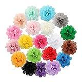 Miaoo 20pinces à cheveux à fleurs en mousseline de soie, pour bébés et enfants