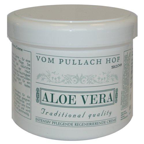 Aloe Vera Creme 500ml vom Pullach Hof für die anspruchsvolle Pflege, unterstütz die natürliche Regeneration der Haut.