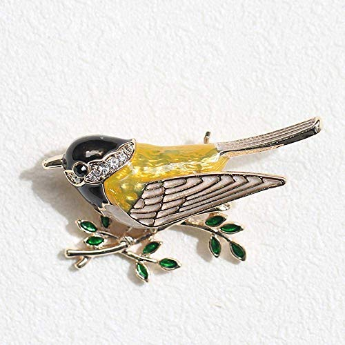 MingXinJia Mode Broschen Pins Frauen Drip Oil Multi-Color Sparrow Vogel Brosche Hundred-Lap Jacket Pin für Frauen und Mädchen, 1# Sparrow Jacket