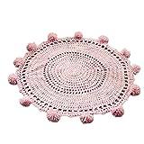 Originaltree, Handgefertigt, Strick-Teppich/Decke für Babys und Kinder, Kaschmir-Imitat, Rose, Einheitsgröße