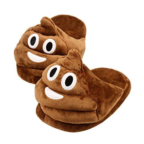 inkint Unisex divertente creativo del fumetto della peluche Big Animal Pantofole Emoji pantofole coperta Pantofole inverno per adulti Uomini Donne