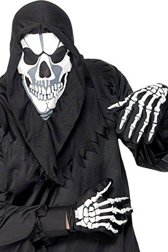 Amscan HALLOWEEN Accessoire Verkleidung SKELETT Handschuhe Kostüme (Skelett Halloween-kostüme)