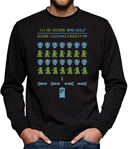 TLM Bad Wolf Arcade Sweatshirt Pullover Herren M Schwarz
