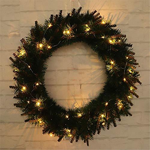 RWINDG 30/40/50 Cm DIY LED Hängende Kranz Weihnachtsfeier Dekoration Wand  Ornament Winterdeko Weihnachtsbasteln Nordische