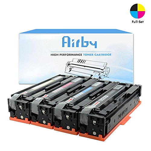 Airby® CF400X CF401X CF402X CF403 X 201X Toner kompatibel für HP Color LaserJet Pro MFP M277dw, M252dw, MFP M277n, M252n, 4 Stücke (Schwarz, Cyan, Gelb, Magenta)