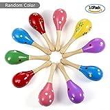Diealles 10PCS Maracas Sonajero Coctelera Musical Juguetes de Madera para Baby Kids Sound Music Gift Niño Sonajero, Color Aleatorio