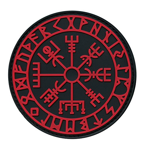 Vegvisir Viking Compass Norse Rune Morale Tactical PVC Rubber Fastener Patch