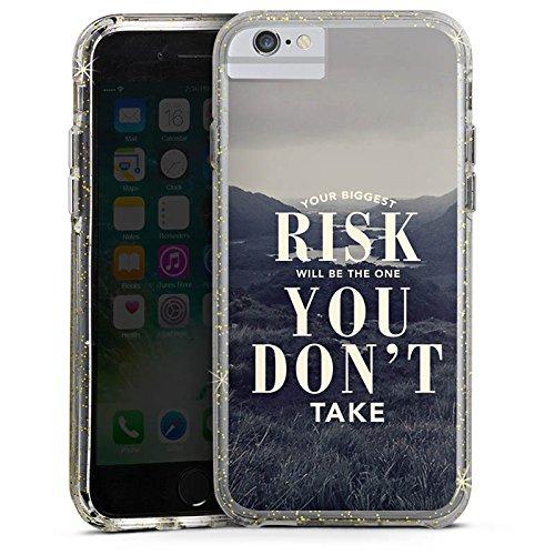 Apple iPhone 6 Bumper Hülle Bumper Case Glitzer Hülle Phrases Sprüche Sayings Bumper Case Glitzer gold