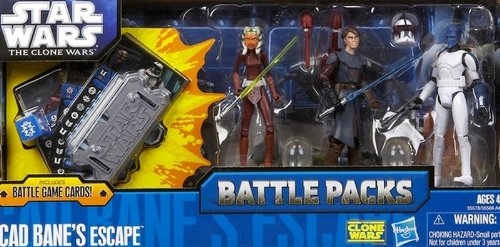 Hasbro Battle Pack Cad Bane`s Escape mit Ahsoka Tano, Cad Bane in Clone Trooper Rüstung & Anakin Skywalker - Star Wars The Clone Wars Collection