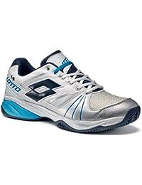 Lotto Chaussures Spécial Tennis Pour Homme Blanc Blanc/Bleu - Blanc - White/Aviator, 42,5 EU