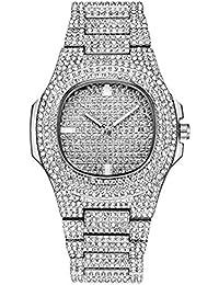 KUNDG Reloj De Hombrerelojes para Hombre Reloj Automático con Fecha De Diamante para Hombres Relojes para