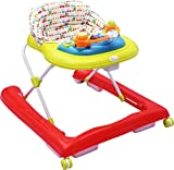 #6: R for Rabbit Zig Zag - The Anti Fall Safe Baby Walkers with Adjustable Height and Musical Toy Bar (Red Green)