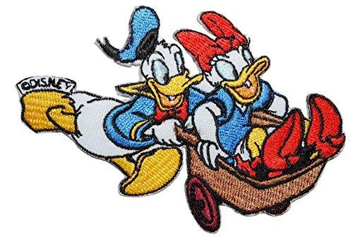 alles-meine.de GmbH Donald Duck mit Daisy 11,2 cm * 7,8 cm Aufnäher Applikation Bügelbild Patch Mickey Micky Maus Minnie -