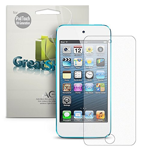 GreatShield Ultra Anti-glare (Matte) Clear Screen Protector Film for Apple iPod Touch 5th/6th Generation (3 Pack) -