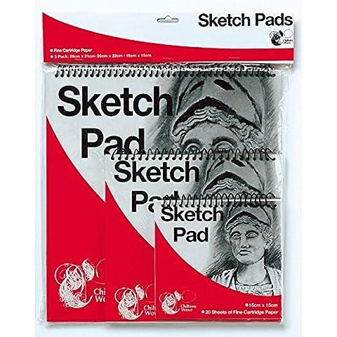 Feines Zeichenpapier/Skizzenpapier, 3 Böcke