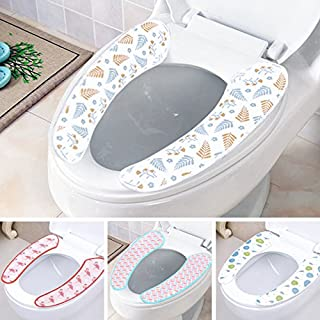 Generic Purple : 2016 New Toilet Seat Heated Super Practical Paste Toilet Seat Cover Candy-colored Thick Beiji Rong Use Can Be Washed Repeatedly